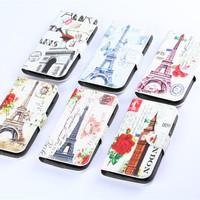 Fasion Eiffel Tower Print back case cover Capa for Mototola MOTO G XT1028 XT1031 XT1032 holster flip leather wallet cases