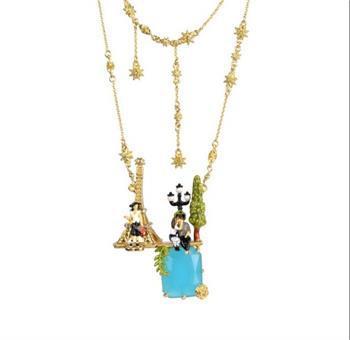 New arrival fashion les nereides romantic love flowers gold penant necklace for women fine jewelry collier