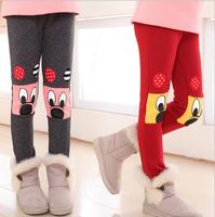 NEW FASHION 2015 Spring Winter Plus Thick Velvet WARM Catton FULL Leggings Children Clothing Wild Cotton Long Pants