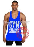 New Bodybuilding and Fitness Vest Men Bodybuilding Tank Top Fitness Tanks Sleeveless sports suit Cotton Deepcut Golds gym ZYZZ