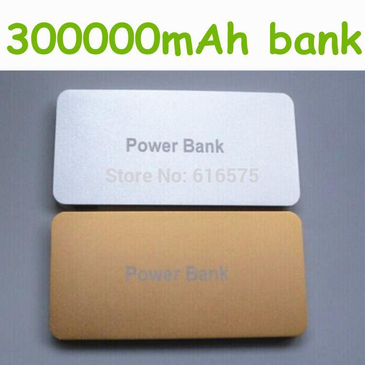 New brand Power Bank 300000mAh Big capacity Ultra-thin Universal Mobile power supply Charger Battery For Galaxy S5 iPhone 5 6(China (Mainland))