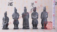 [Chinese Classic Clay Crafts] Terracotta Army Terracotta Warriors and Horses 15 CM Replica Clay Model Made In XI'AN China