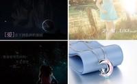 Blue s925 silver necklace female fashion moon pendant accessories chain necklace accessories