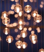 Modern Pendant Light Design Hanging Led K9 Crystal Glass Ball Loft Lights Suspension Light 14 head Home Decoration