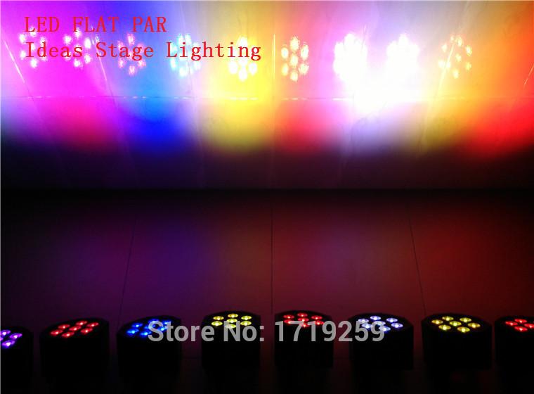 6pcs/lot 7x 12W RGB DMX Stage Lights Business Lights Led Flat Par High Power Light with Professional for Party KTV Disco DJ EU(China (Mainland))