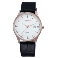 SKONE Top Brand Perfect Man Luxury Business Watches High Quality Men Automatic Date Leather Waterproof Quartz Watch