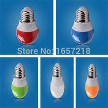 1pcs E27 2W LED Bulb Shell Color Red Green Blue Orange White LED Light Bulb Energy-Saving lamps 220V(China (Mainland))