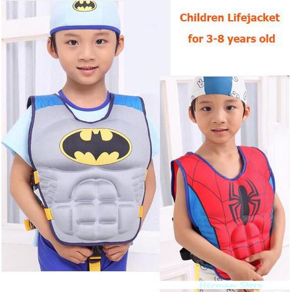 Kids Super man Life Jacket Spider man life Vest Child PFD 3-8 Years Old Boy Girl Swiming Batman Life Safety Water Sports(China (Mainland))