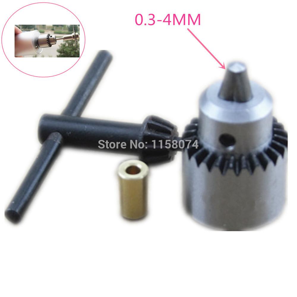 Комплектующие к инструментам Drill Chuck 0,3 /4 JT0 /& 3.17 1/8 mini drill chuck 0.3-4mm 2 3mm mini drill chuck adapter bit clamp socket set micro collet chuck power tools mini brass electric motor for woodworking