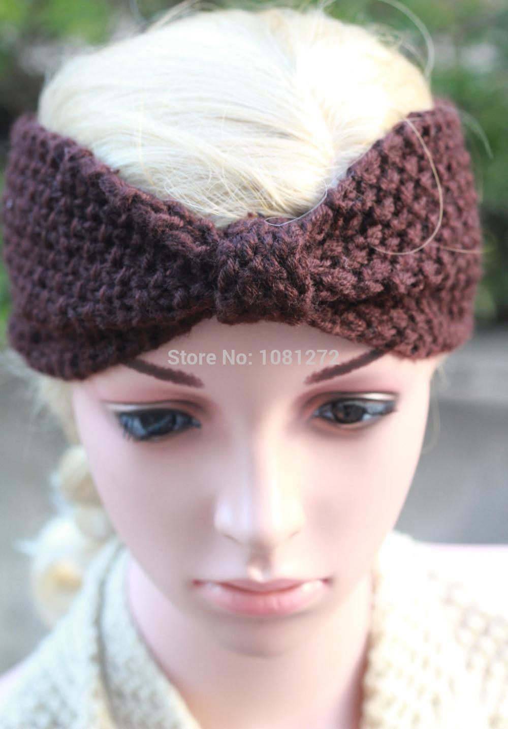 (20pieces/lot) Wholesale Head wrap,headband pattern,Kont Knit Headband Brown headband fashion headband Cute Turban 7013(China (Mainland))
