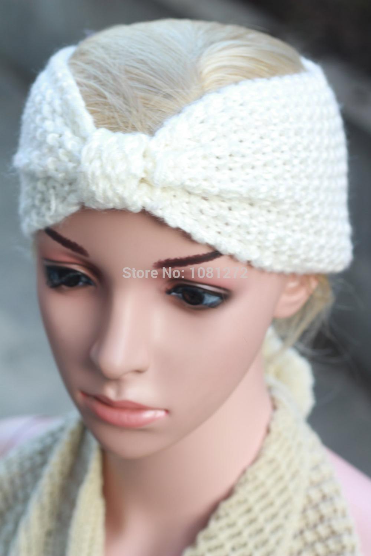 (20pieces/lot) Wholesale Womens ,Soft black knit turban headband ear warmer ,headband pattern,Fall and winter hair accessory(China (Mainland))
