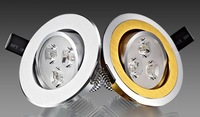 1pcs Epistar white / warm white 3W led down light aluminum 86 x 45mm drive AC90 - 265V 5 years warranty Free Shipping
