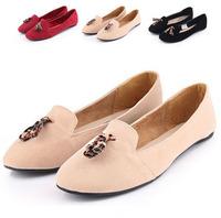 Slip On 2015 Shoes Women Ladies Flats Shoes Suede Leather Mocassin Women  Flats Shoes Ballet sapatos femininos mocassim WF6137