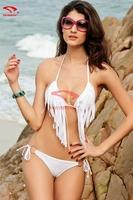 Modern 2015 New Bikinis Set Push Up Bikini Sexy Women Triangle Swimsuit Tassel Biquini Bandage Sexy Bikini S M L XL DM-051-2