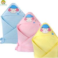Avivababy  newborn baby clothing Solid blanket gremlins autumn winter newborn wrap baby receiving blankets baby clothing