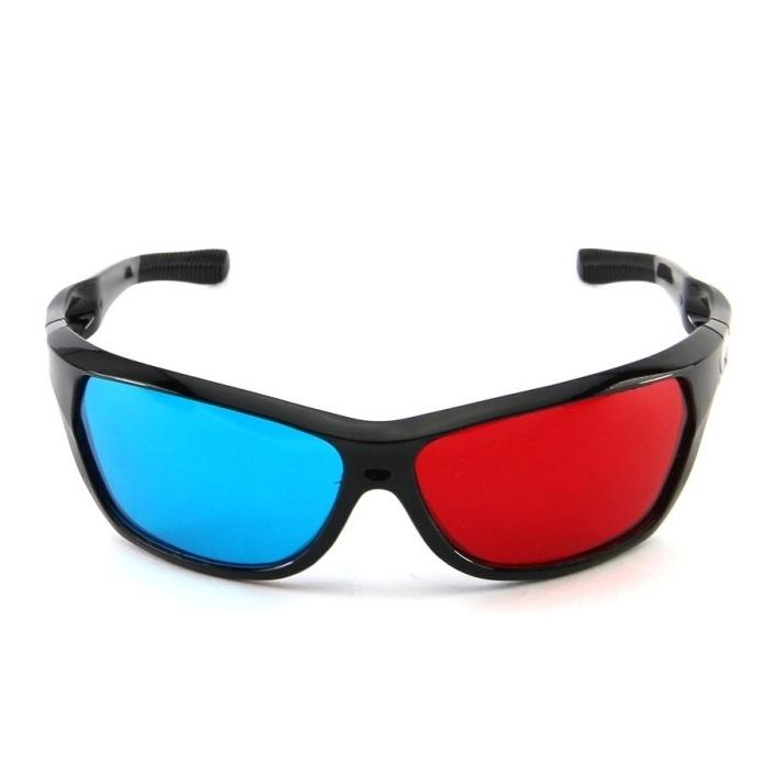 1pcs lot Retail Red Blue Plasma Plastic 3D Glasses TV Movie Dimensional Anaglyph Framed 3D Vision