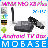 MINIX NEO X8 Plus Android TV Box Amlogic S802 Quad Core 2.0GHz 2G/16G 2.4G/5GHz WiFi XBMC Media Player IPTV Smart TV Receiver