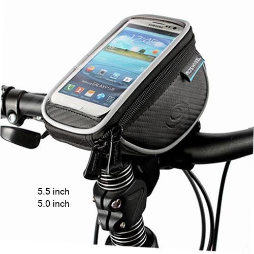 Roswheel Road Mountain bike handlebar bags cycling bicycle phone bag waterproof touch screen ciclismo bolsa bicicleta 5 5.5 inch(China (Mainland))