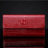 2015 NEW Women Genuine Leather Wallet Vintage Long Clutch Wallets Lady Evening Bag Wedding Handbag