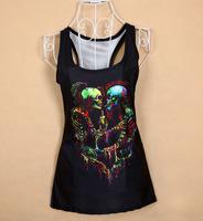 New Women T-shirt 3d Skeleton Brothers Printing Summer Tops Women T Shirt Women's Clothing Dropshipping XY087