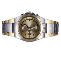 Dress Stainless Steel Men Watch Quartz Watches Round Dial Analog Gold Top Brand Luxury Gold