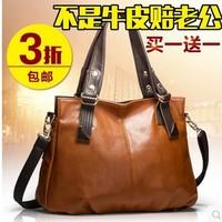 2014 Crocodile women's genuine leather handbag fashion cross-body women's messenger bag