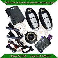 cardot new passwords car alarm with 2pcs smart keys,3D low pke antennas,automotive connector,remote start/stop,push start/stop