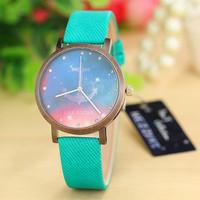 KEZZI K-964 Brand Big Case Star Series Women Dress Wristwatch Retro Bronze Surface Anchor Rosette Shape Quartz Watch