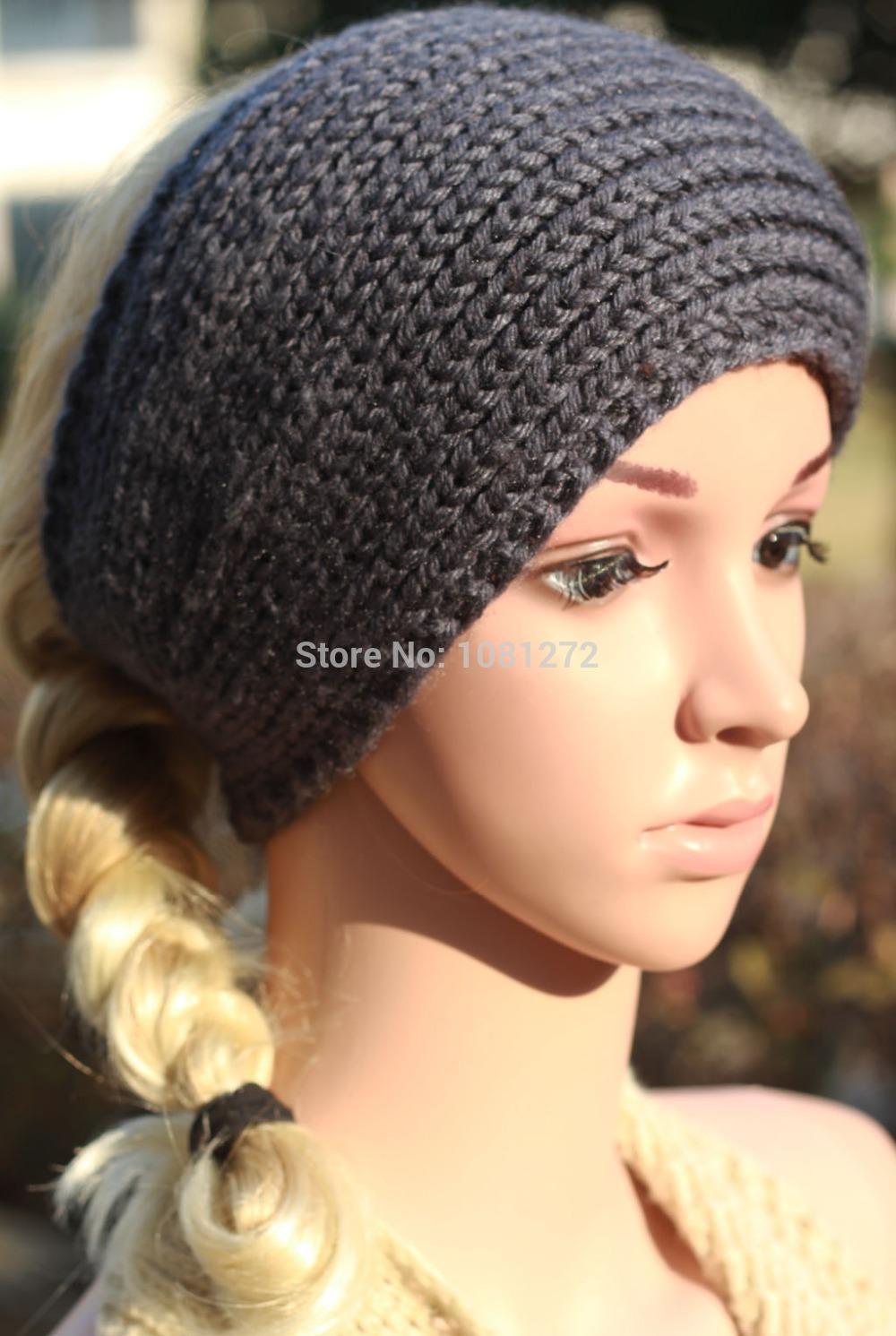 Dark gray Knit Headband,Knit Beanie,Cute Turban Headband,Earwarmer Head wrap,headband pattern,Fall and winter hair accessory(China (Mainland))