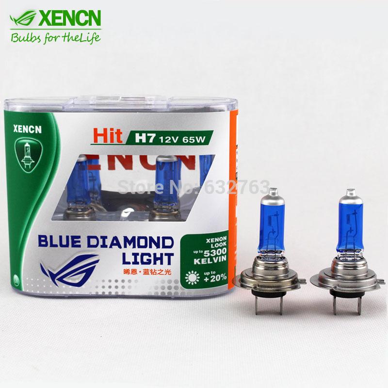 New XENCN H7 12V 65W 5300K Hight Watt Blue Diamond Light Car Headlight Halogen Bulbs Xenon More Birhgt White OEM For Audi BMW(China (Mainland))