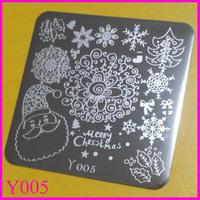 10pcs/lot   Y005  Free Shipping  Y Stamping Plates Nail Tools