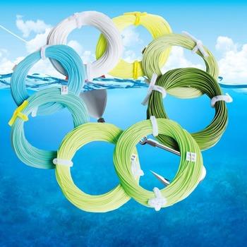 Бесплатная доставка футов вес вперед лети лески многоцветный WF плавающей