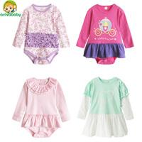 Avivababy Kids Bodysuit 2015 Newborn Body Roupas de Bebe Girls Bodysuits Fashion Cotton Original Autumn Jumpsuit Baby Clothing