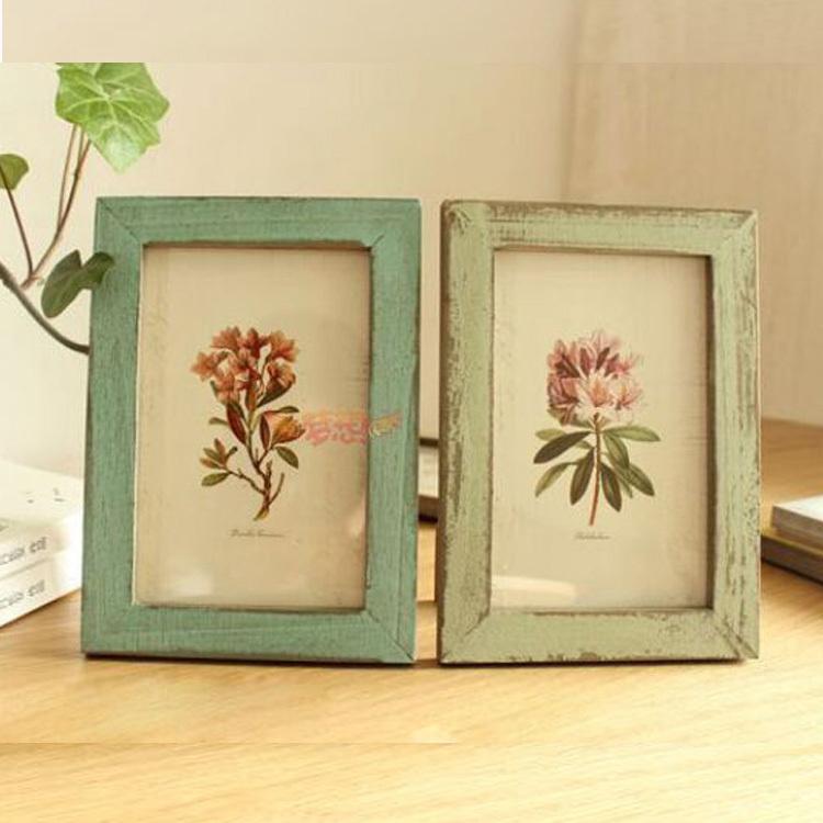 Online get cheap vintage wooden frames - Vintage picture frames cheap ...