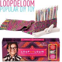 Freeshipping NEW LoopdeLooM Loopdedoo Weaving Loom Kit  Handbag weaving DIY many kind beautiful color hand scarf for everyone