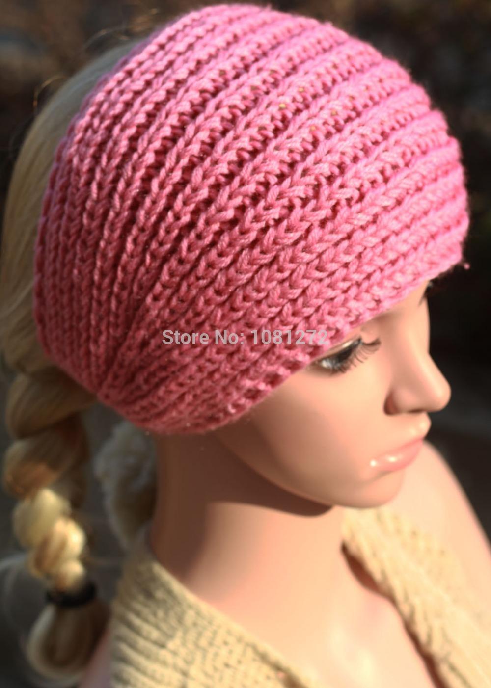 New pink Knit Headband,Knit Beanie,Cute Turban Headband,Earwarmer Head wrap,headband pattern,Fall and winter hair accessory(China (Mainland))