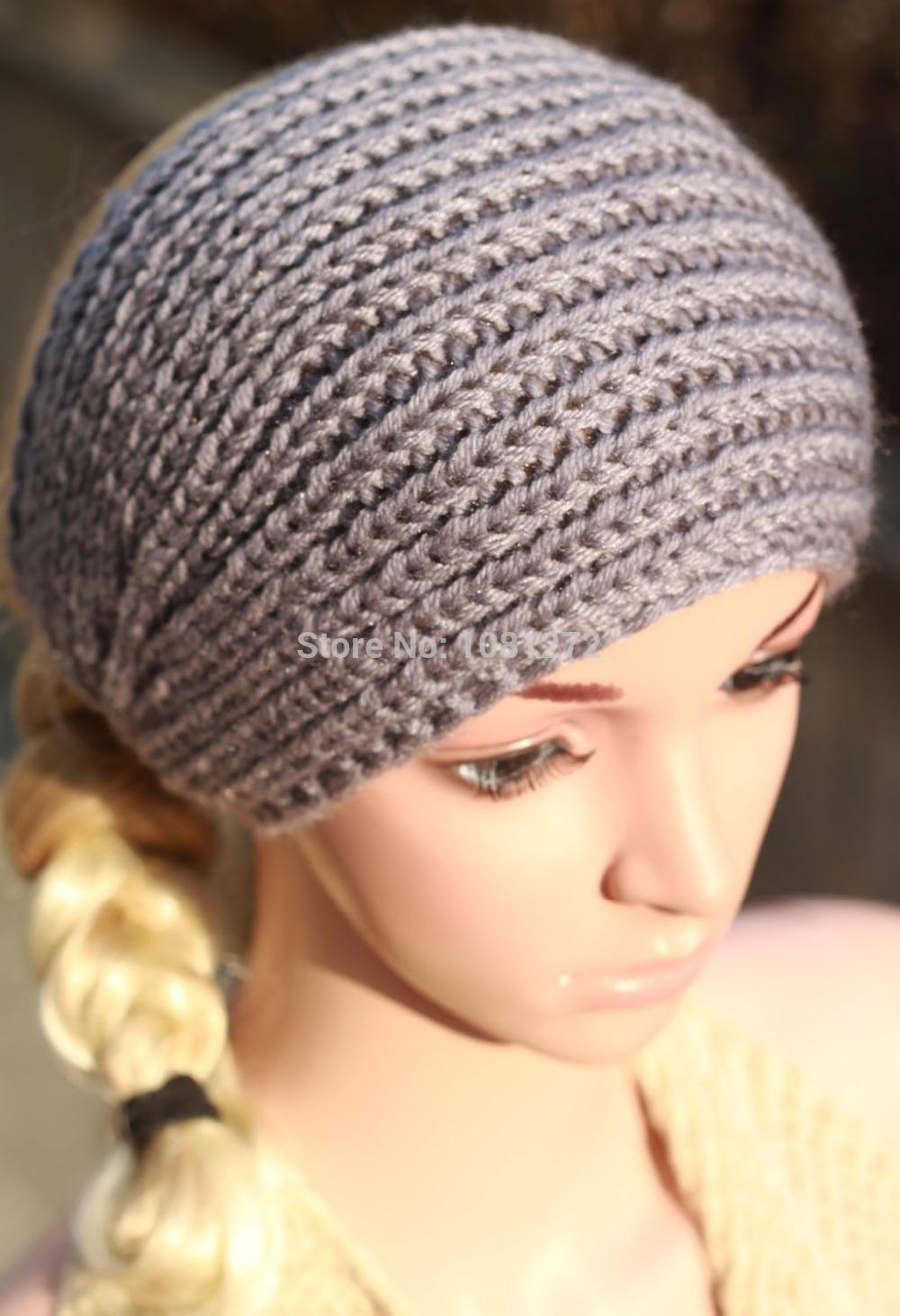Light grey Knit Headband,Knit Beanie,Cute Turban Headband,Earwarmer Head wrap,headband pattern,Fall and winter hair accessory(China (Mainland))
