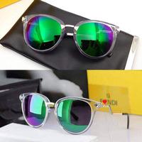 2015 Round Vintage Women Fashion Brand Designer Sunglasses, Crystal Diamond UV400 Mirror Coating Plastic Ladies Sun Glasses