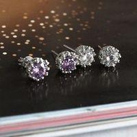Hot Mini Cute stud earring Crystal Women Fashion Jewelry For Sale
