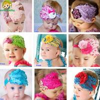 Avivababy Baby Cotton Headband Knot Baby Tie Knot Headbands Infantil Fashion Cute Bebe Girls Headwear Shabby Flowers Yard 2015