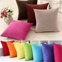 Soft Office Home Decoration Square Cotton Cushion Seat Cover Buttocks Chair Cushion Pads Pillow Case Covers 20 Colours A1 Px60