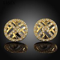 Free shopping 18K gold plating earrings Fashion High Quality zircon earrings KASHAE025