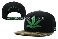 free shipping Marijuana leaf Snapback Hat cap fashion hip hop caps top quality adjustable baseball cap sun hat new brand