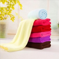 Microfiber Fabric Bath Towel Rectangle Solid Printed Cosmetic Towels Set Bathroom Accessories Hotel Home Textile Products 140*70