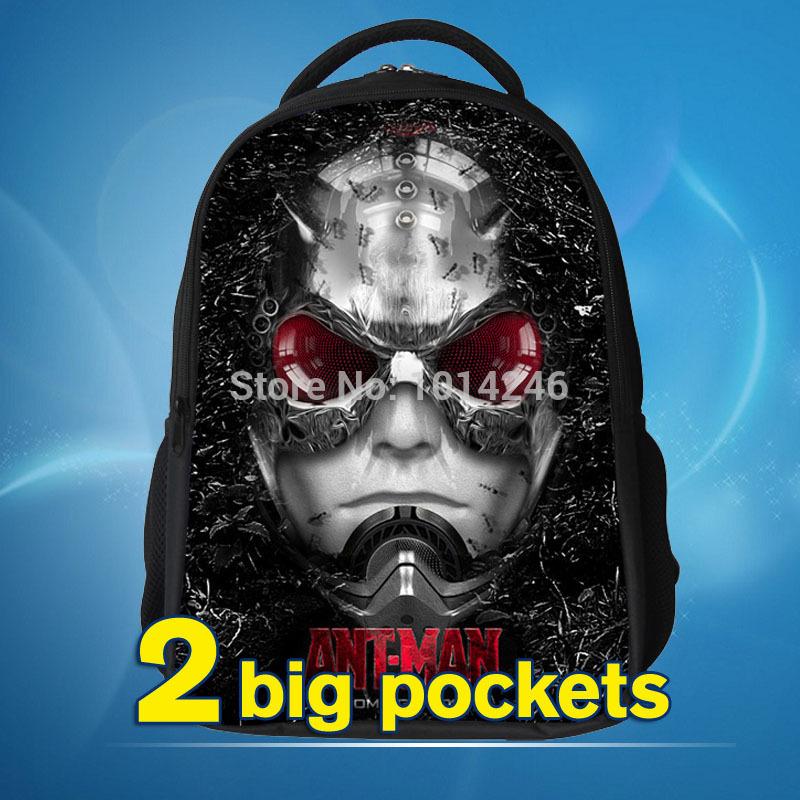 Мстители муравей человек мешок дети задняя часть мешок ant-man рюкзаки и сумки студент школьный рюкзак для дети