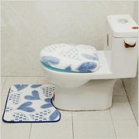2pcs/set Bathroom Set Accessories Mat And Toilet Cushion Cover Sets Soft Kitchen Floor Anti-Slip Welcome Custom Door Mats Home