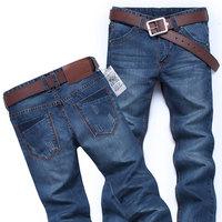 Men's Fashion Slim Cuff Demin Trousers Pants Jeans Mens Man Size 30 31 32 33 34 36 38
