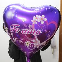 wholesale 5pcs/lot 78*80cm large Heart Balloons Spanish love balloon for weddiing decoration  Valentine's Day foil helium ballon