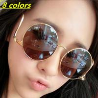 2015 Retro Luxury Women Metal Vintage Coating Sunglasses Fashion Round Radians Design Gafas Oculos Outdoor Vintage Sun Glasses