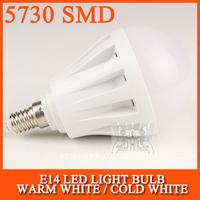 Russia Free Shipping 10pcs/lot LED E14 LED Lamp bulb led light 5730SMD 3W 5W 10W 15W 20W AC220V 230V 240V Cold white/warm white